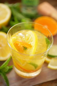 Prosecco is brightened by muddled lemons, limes and tangerines and limoncello in this refreshing cocktail.
