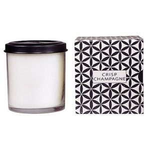 The Voluspa Crisp Champagne Candle offers a bright, fresh scent tempered with ginger and vanilla.