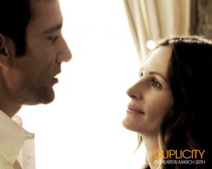 Clive Owen and Julia Roberts play a pair of international champagne-loving corporate spies in the new movie Duplicity that opened March 20.