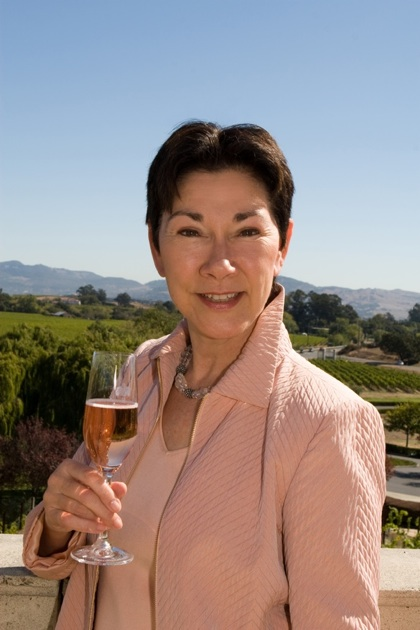 Eileen Crane, CEO and winemaker of Domaine Carneros in the Napa Valley, has been crafting French style sparkling wines longer than anyone else in America.