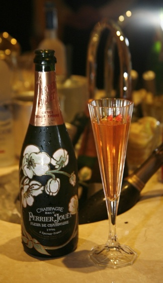 Perrier Jouet's Fleur de Champagne was just one of the champagnes used to create The Bubbly Girl's Perfect Beauty cocktail created for Preston Bailey. Photo by Bob Stefanko/Ranch & Coast