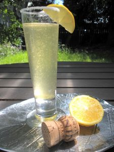 Prosecco, limoncello and homemade natural sour mix create a sparkling twist on the Lemon Drop.