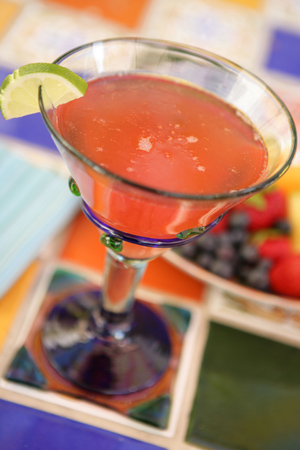 Fragrant guava nectar and cava sparkling wine make the Desert Rose a chic Cinco de Mayo drink. (Photo by Paul Body)