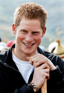 Prince Harry during a visit to Lesotho Africa to support Sentebale, the charity he co-founded with Prince Seeiso. (Courtesty photo)