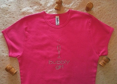 The new short sleeve Bubbly Girl T-shirt in berry pink is great for yoga, sleeping or wearing out with jeans.