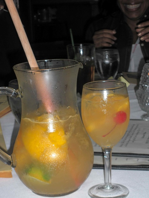 Sangria de cava, made from the sparkling wine from Spain, is a house specialty at the historic Columbia Restaurant in Tampa, Fla. (Photo by Maria C. Hunt)