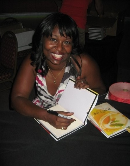 Signing books at the Hotel Solamar on Aug. 26 at the San Diego launch party presented by Slow Food Urban San Diego  and Domaine Chandon - what a blast!