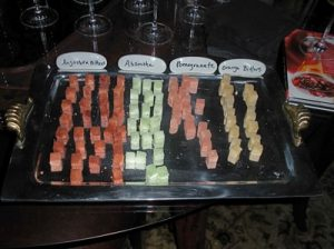 Create champagne cocktails take on a range of flavors with different flavored sugar cubes.