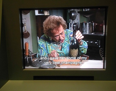 Julia Child says she served her best champagne - a bottle of Dom Perignon - to Bon Appetit editor Barbara Fairchild.
