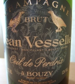 Jean Vesselle's Oeil de Perdrix, a blanc de noirs champagne, is one of the grower wines featured at Dr. Champagne's dinner on Feb. 23 at Picco in Larkspur.