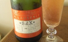 Sex is the titillating name of a rose sparkling wine from Michigan by Larry Mawby.