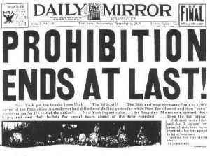 The passage of the 23rd amendment ending Prohibition was front page news across the U.S. (Courtesy photo)
