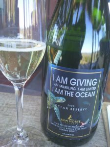 Four dollars from every bottle of Iron Horse Vineyards' Ocean Reserve goes to the National Geographic Ocean Fund.