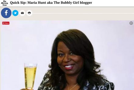 Mercury News quick sip interview Maria Hunt