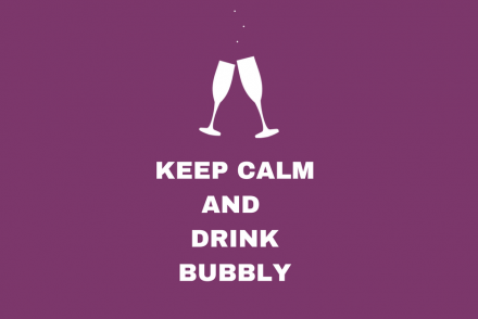 keep calm drink bubbly