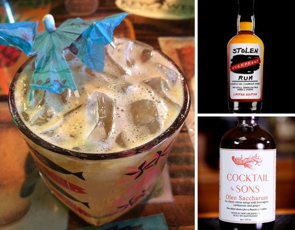 tropical storm, stolen rum, oleo saccharum